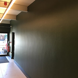 Commercial building painting and decorating hallway