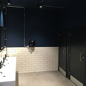 Commercial rest room decoration