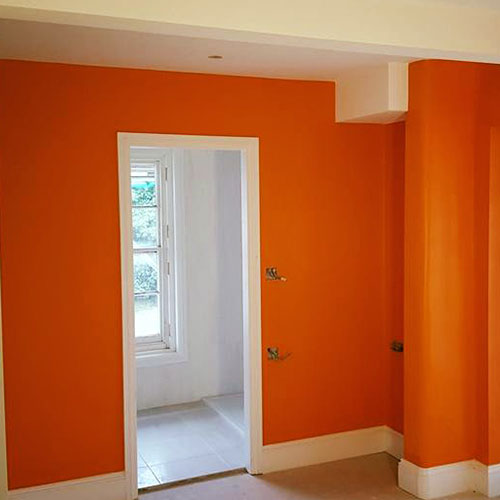 JB Domestic and Commercial decorators Orange room painted