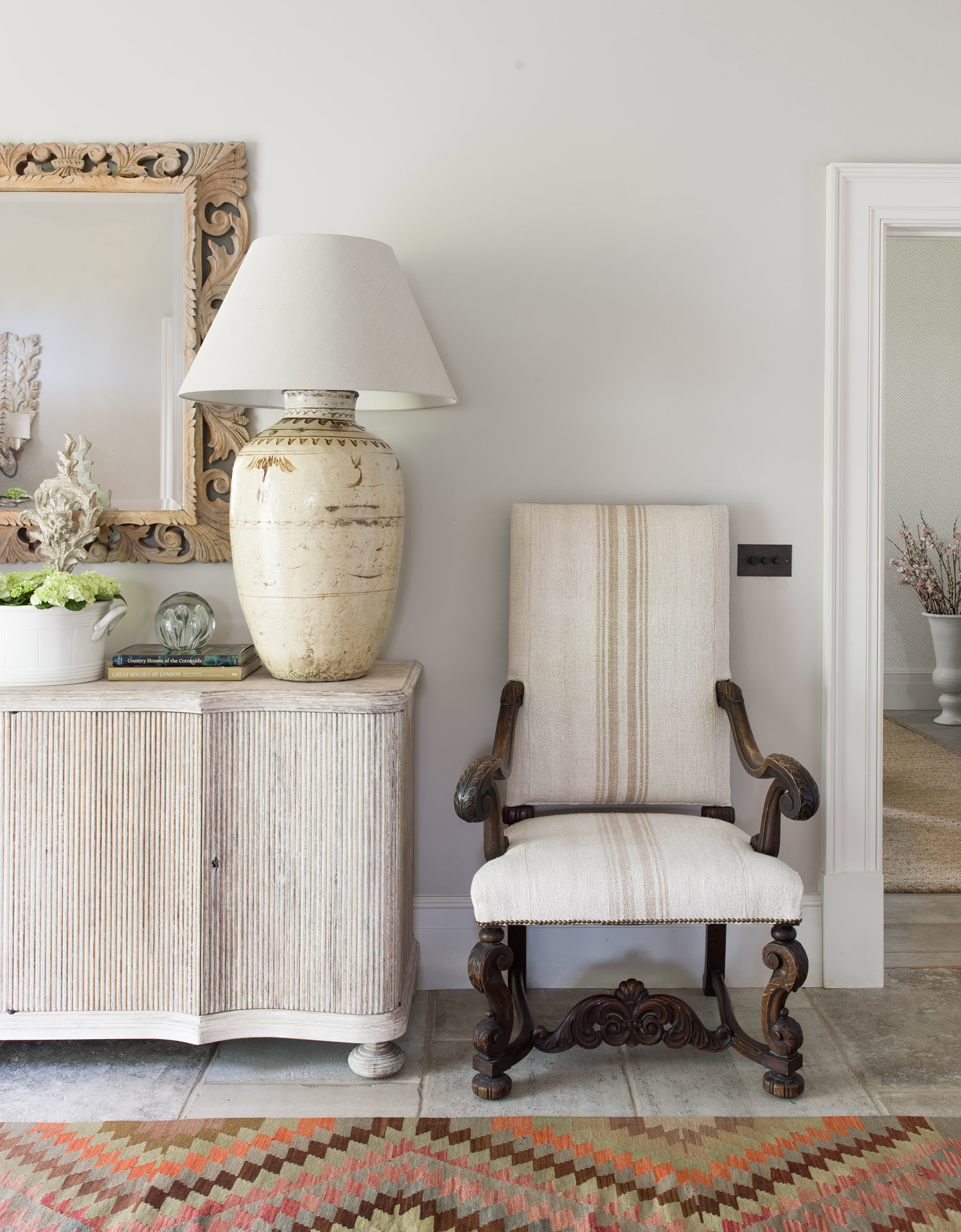 Hall detail – interior design by Eadie & Crole