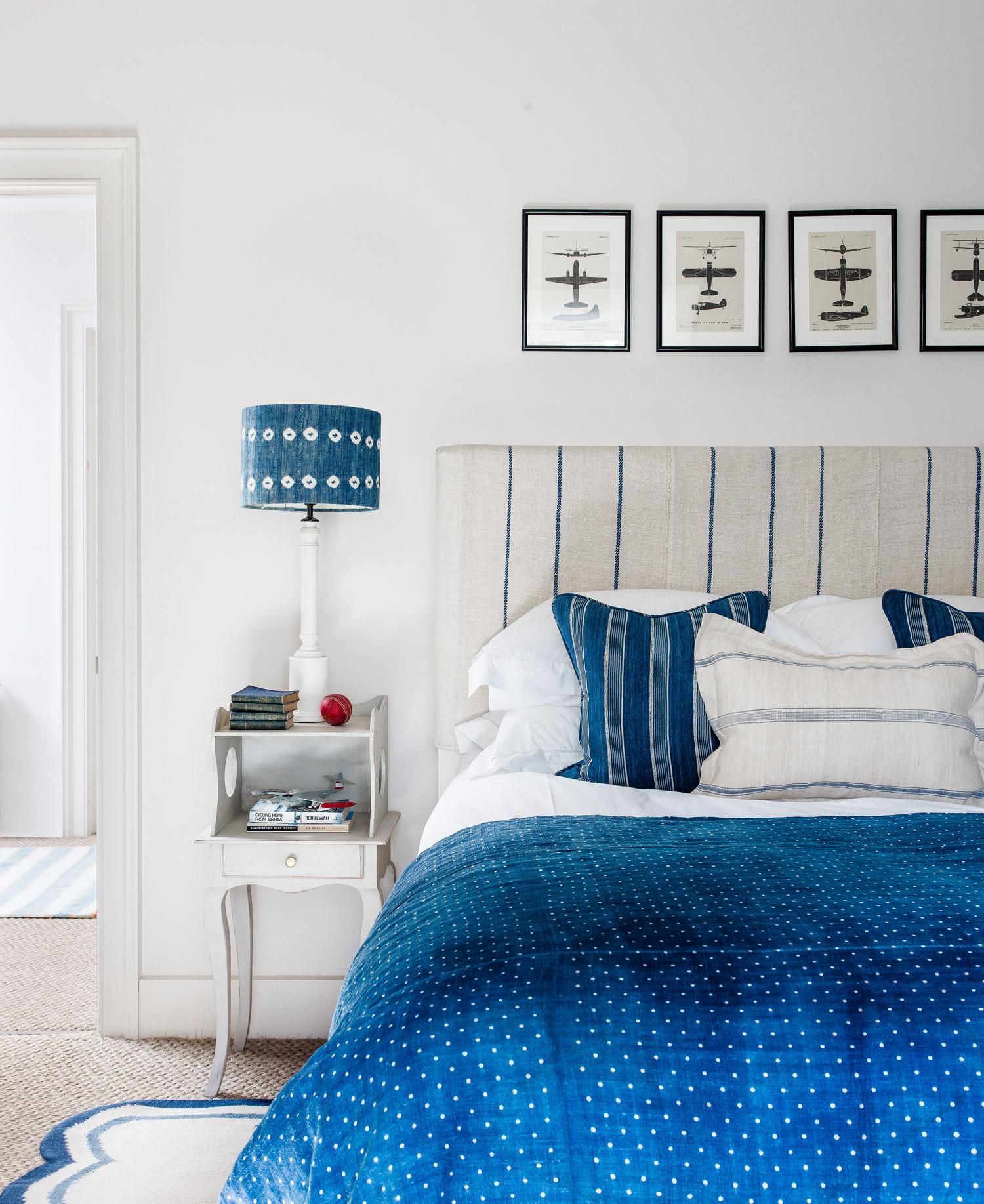 Blue bedroom – interior design by Eadie & Crole