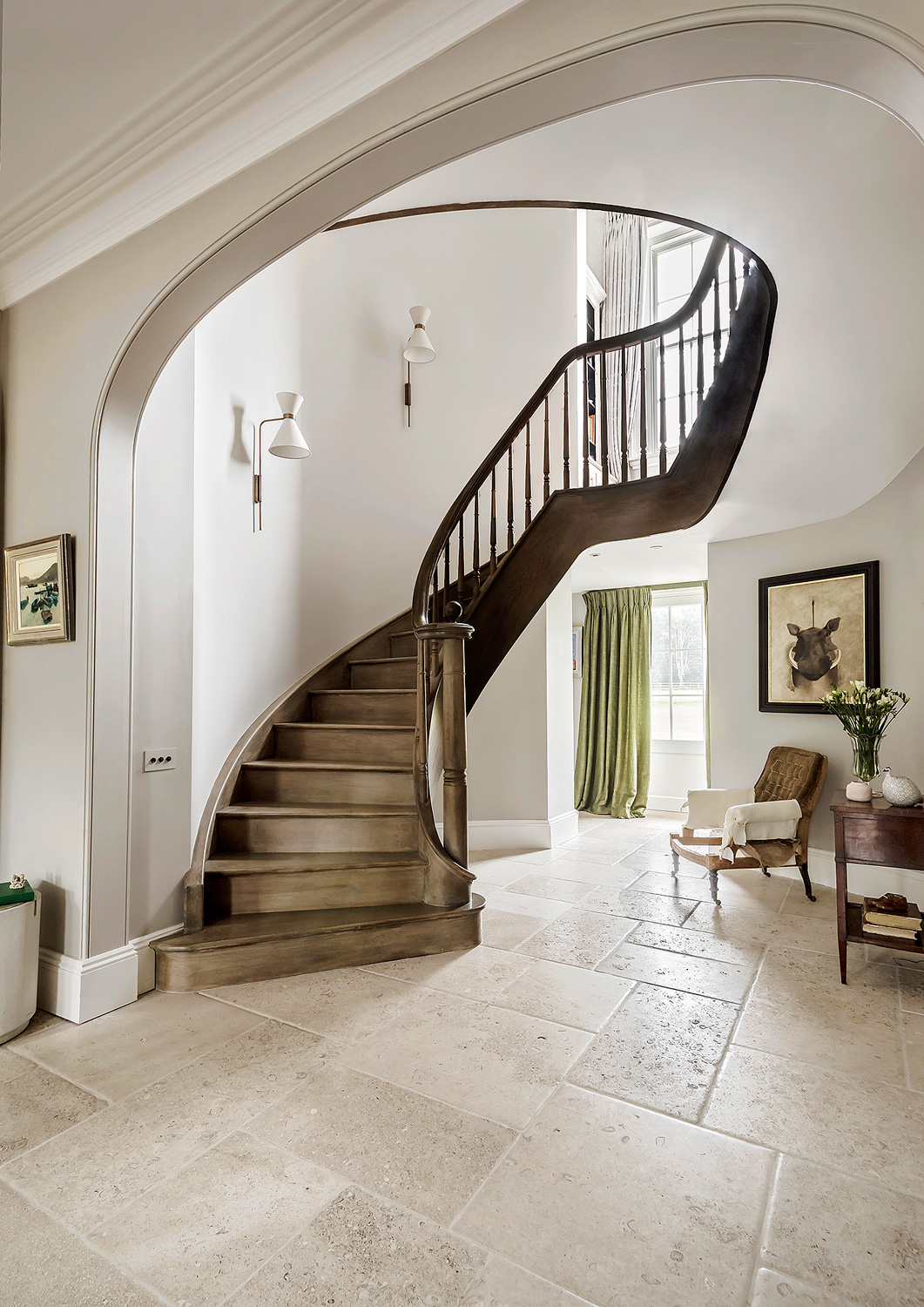Staircase and hall – interior design by Eadie & Crole