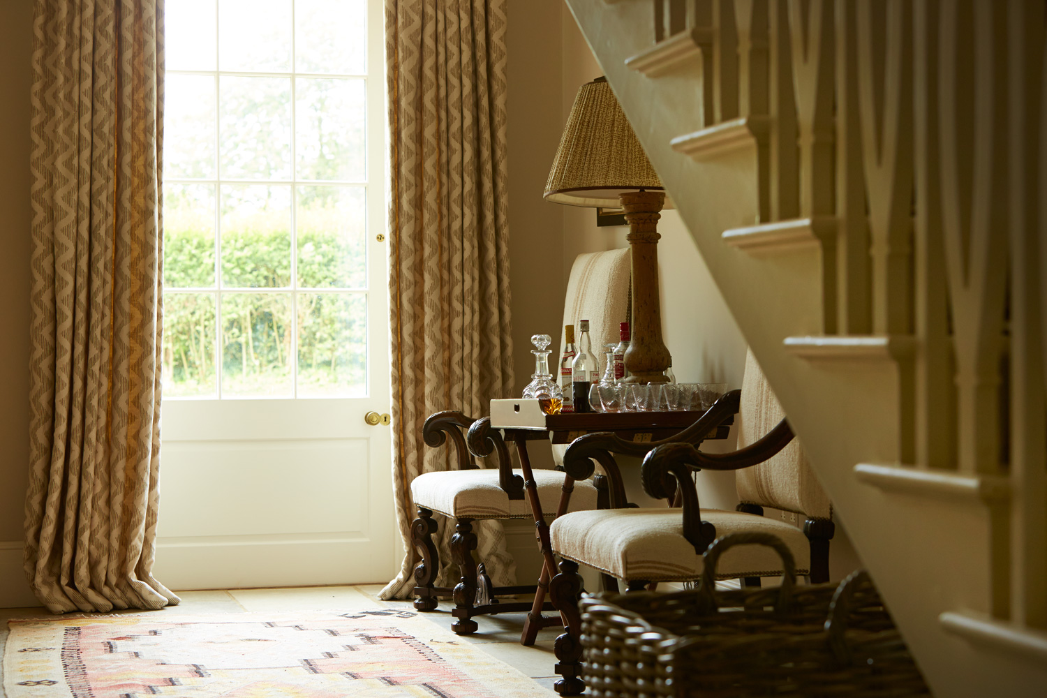 Hall chairs – interior design by Eadie & Crole