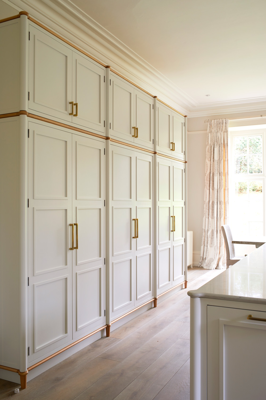 Cupboards in kitchen  – interior design by Eadie & Crole