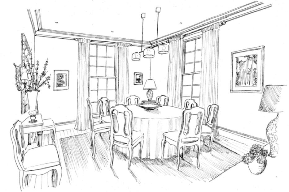 Design sketch – interior design by Eadie & Crole