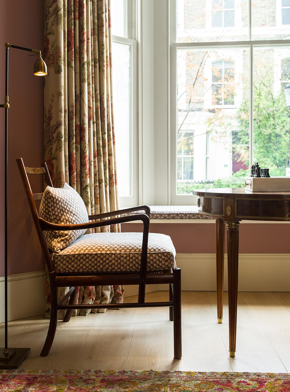 Chair detail – interior design by Eadie & Crole