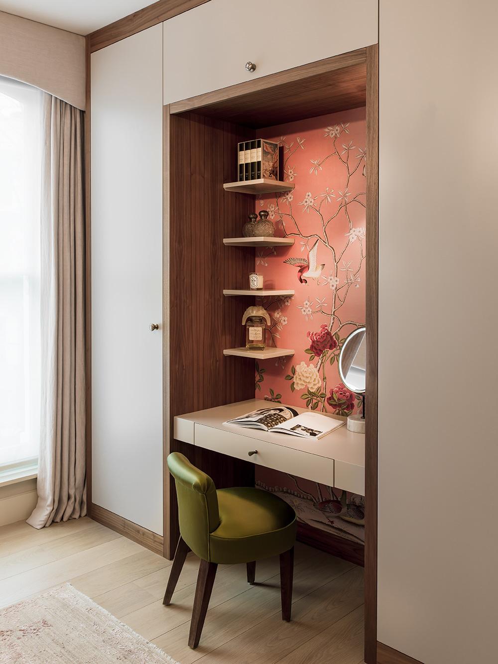 Inset desk – interior design by Eadie & Crole