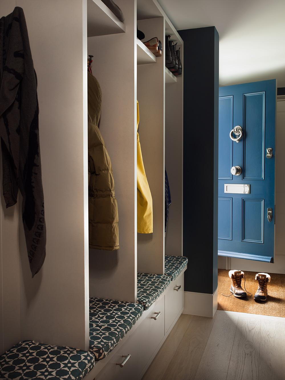 Coat cupbaord – interior design by Eadie & Crole