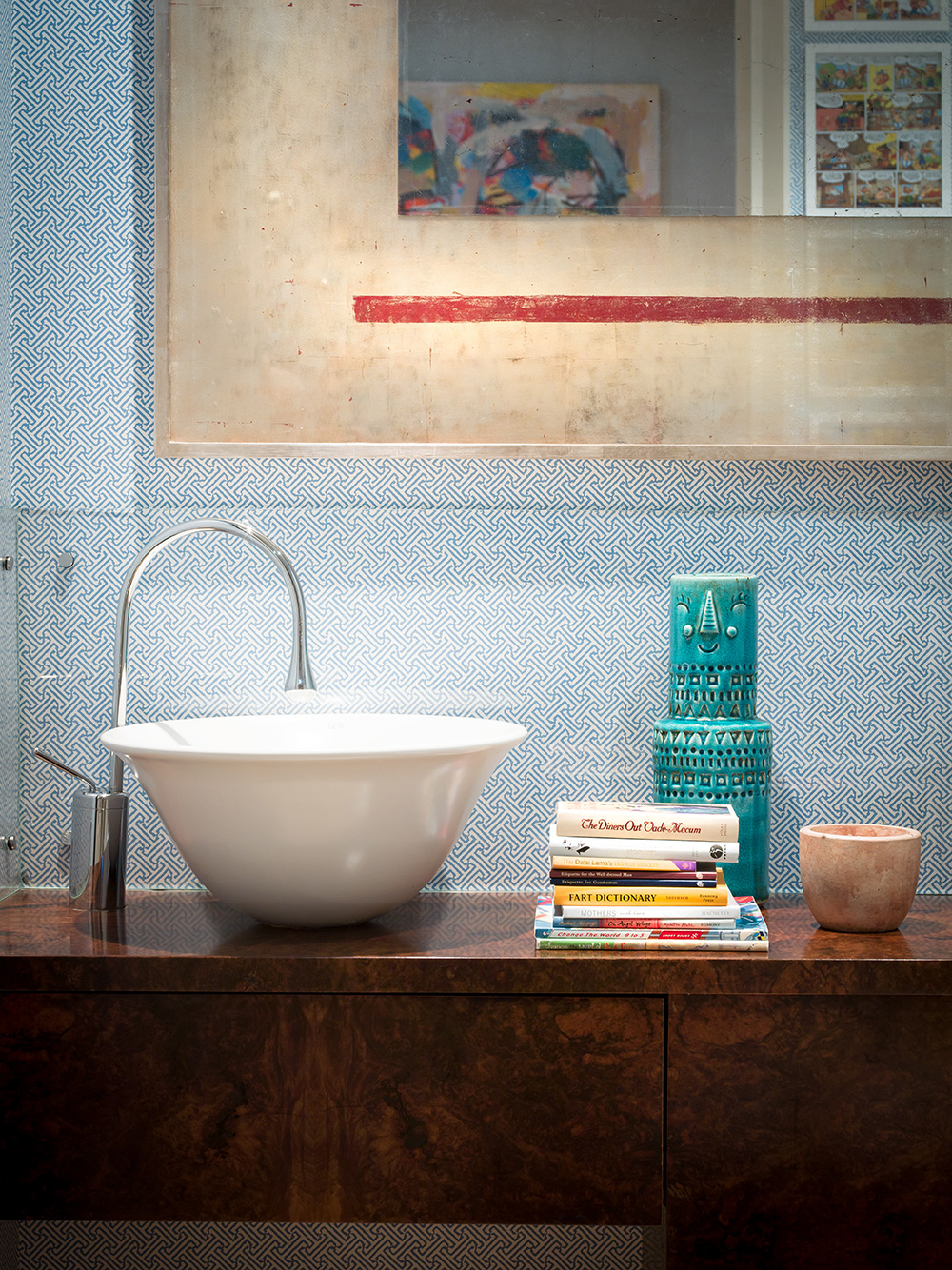 Cloakroom detail – interior design by Eadie & Crole