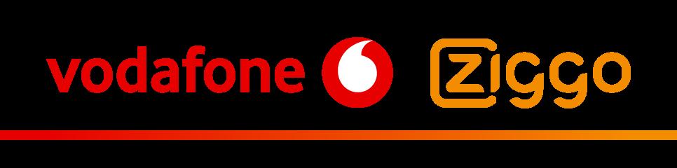 VodafoneZiggo logo in kleur.