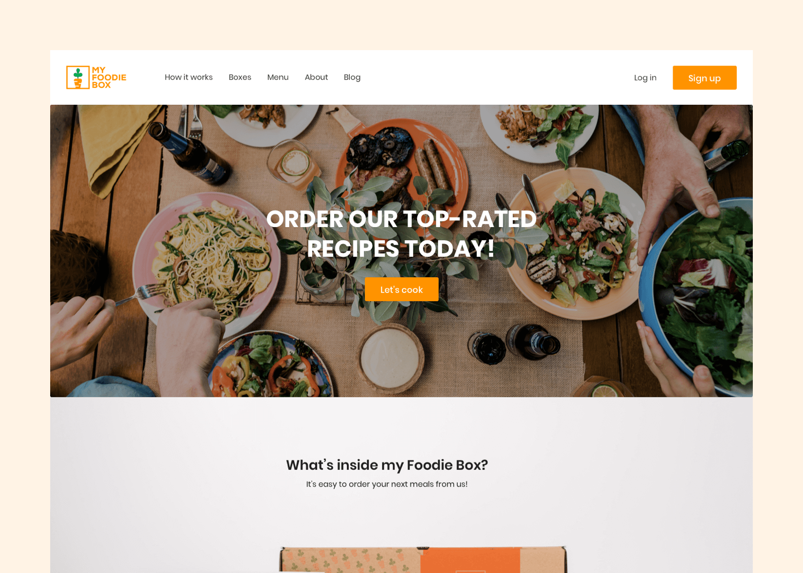 My Foodie Box, a meal subscription service based in Perth
