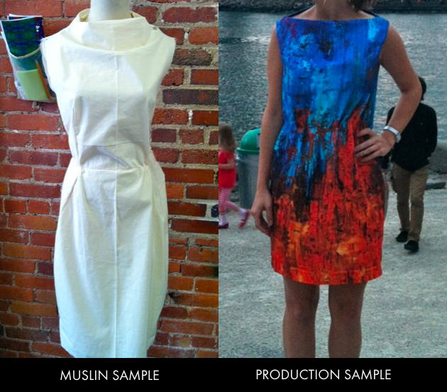 Muslin vs Production Sample