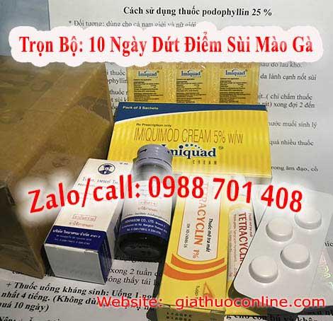 Mua thuốc podophyllin 25 ở Quảng Trị chữa sùi mào gà tại Quảng Trị