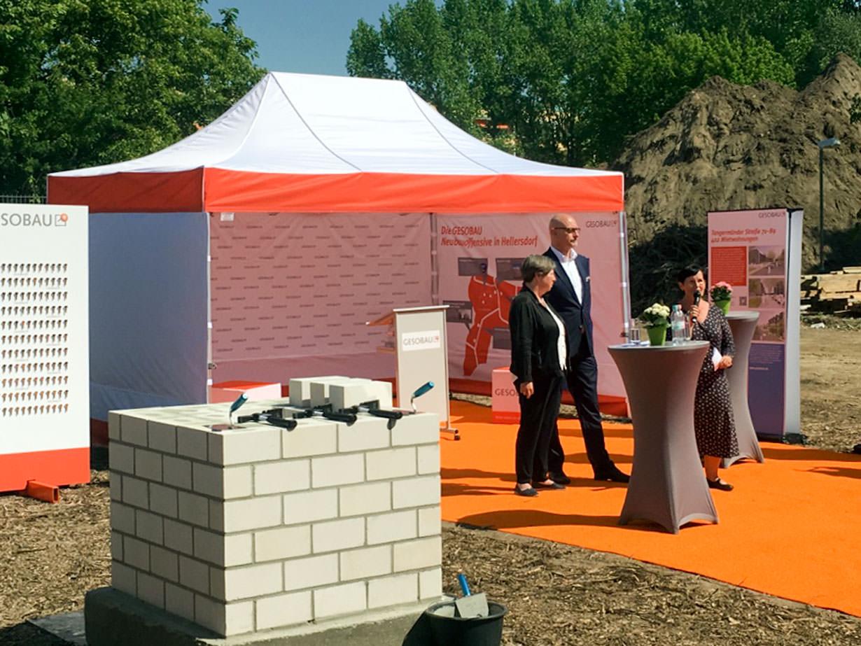 Gesobau AG legt den Grundstein für drei Projekte in Berlin-Hellersdorf