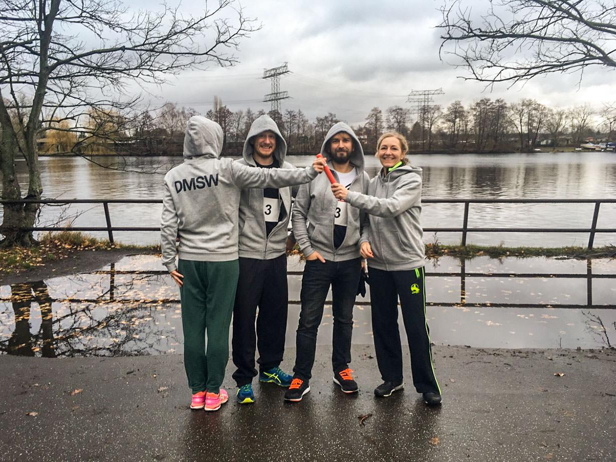 DMSW Runners beim Team-Staffellauf im Plänterwald