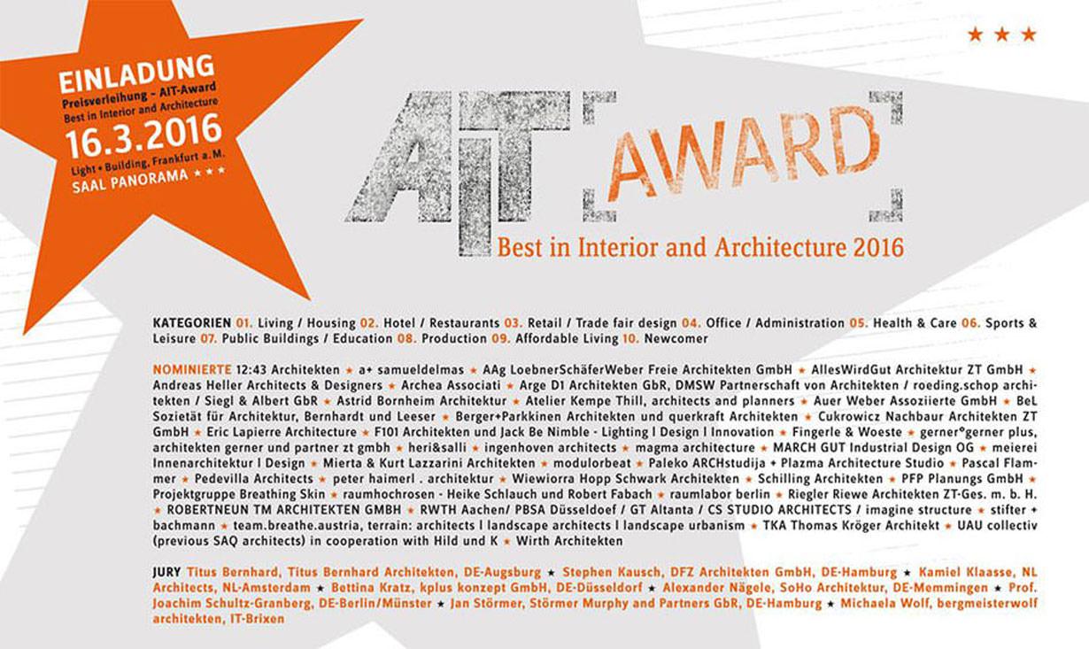 Architekturpreis AIT Award 2016