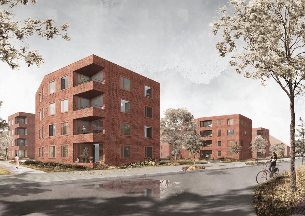 Anerkennung beim Wettbewerb »Wohnprojekt Gescherweg in Münster«