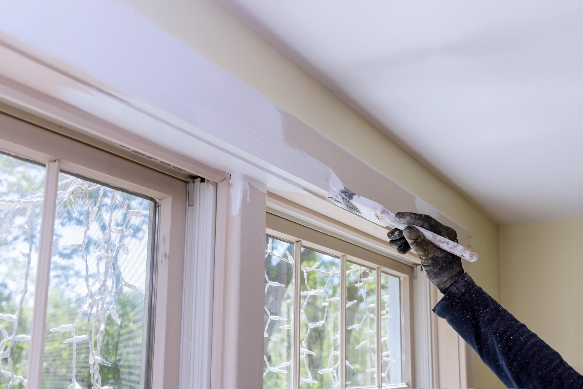 hand painting window panes