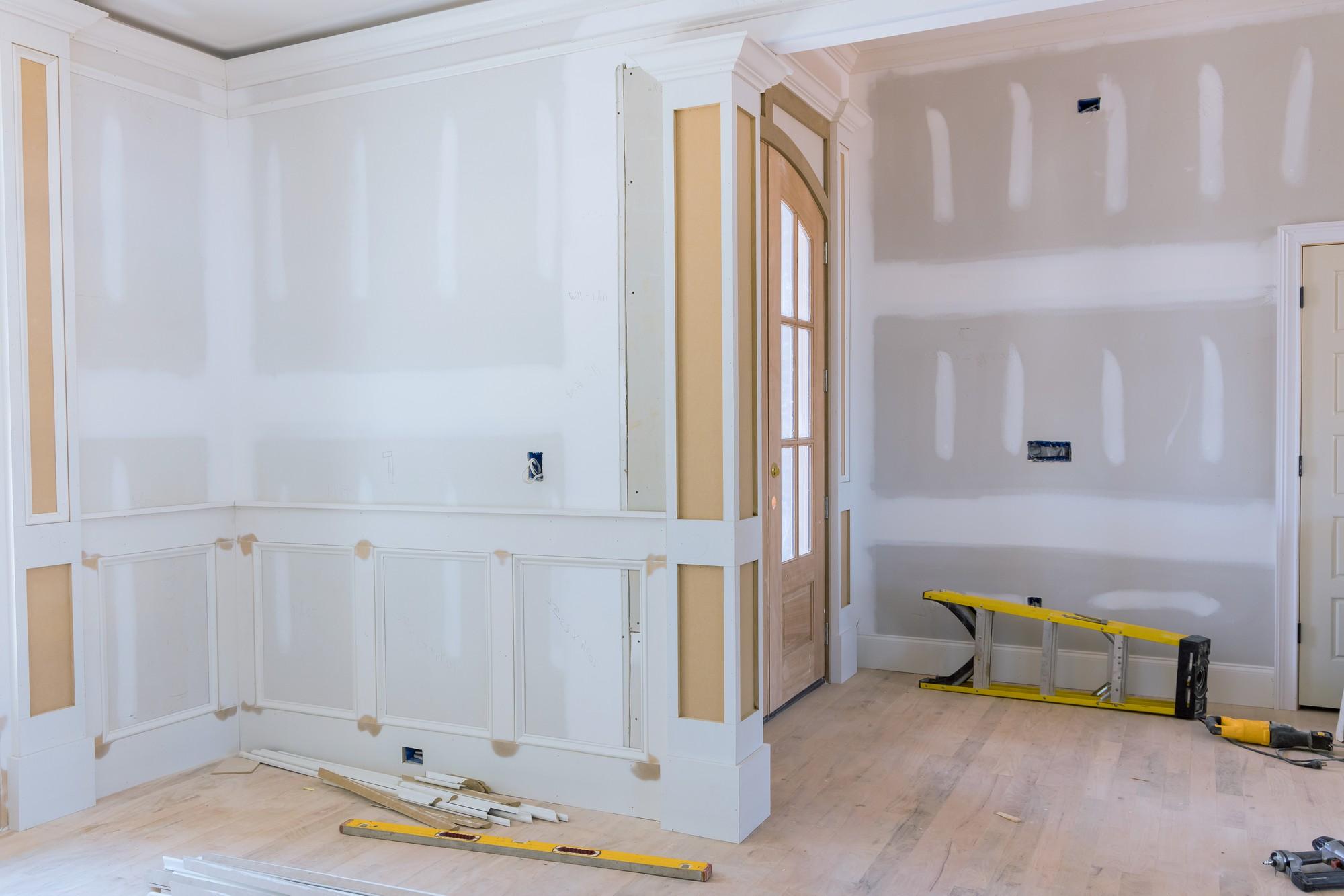 indoor room being renovated