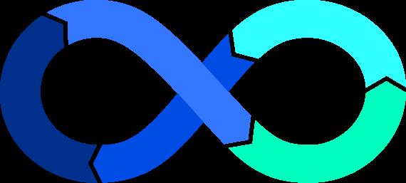 Digital Transformation - infinity symbol illustration