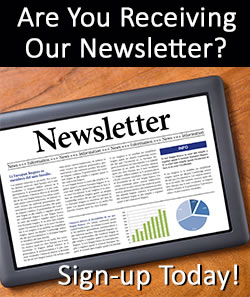 Newsletter on a tablet - Sign up today!