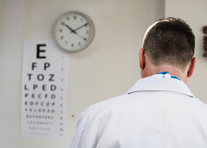 An eye test chart