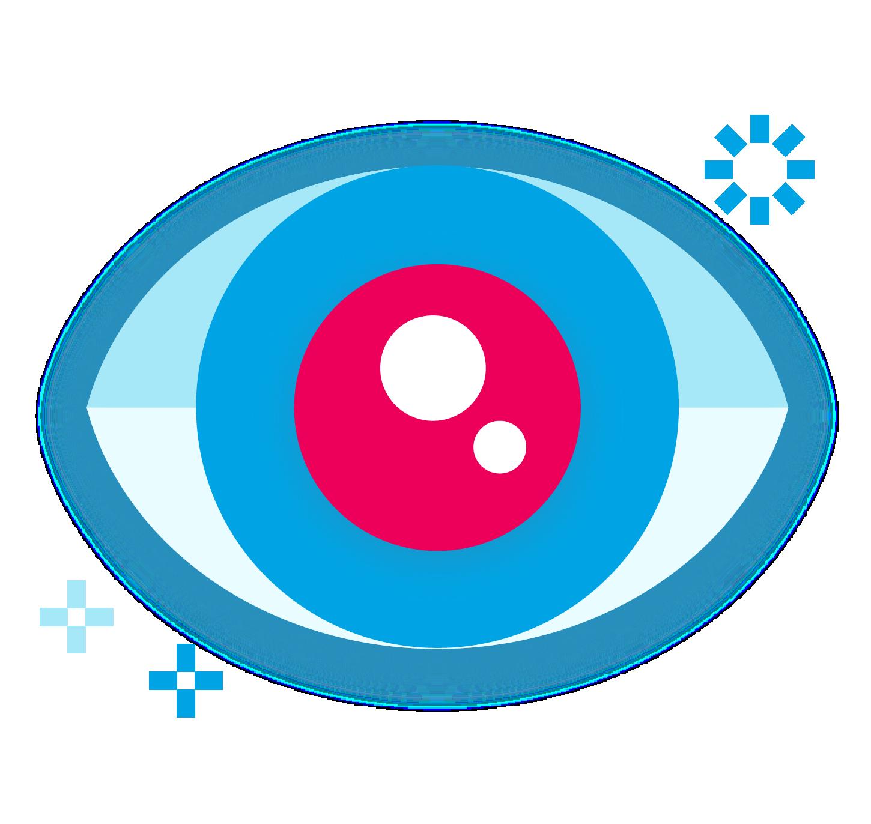 Stylized icon of an eye
