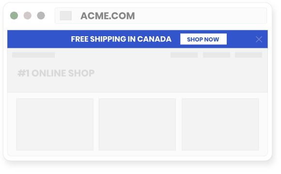 A geo notification about free shipping to a specific location