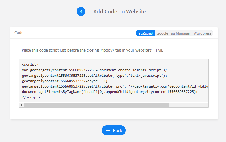 generate geo content code for your Shopify website