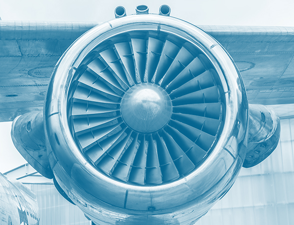 Large turbine engine from a passenger jet plane