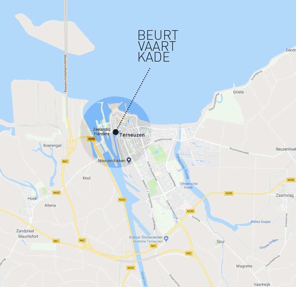 Locatie Beurtvaartkade