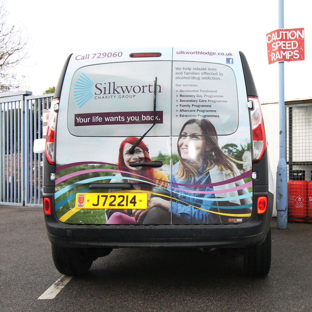 Silkworth advert on Jersey Post fleet