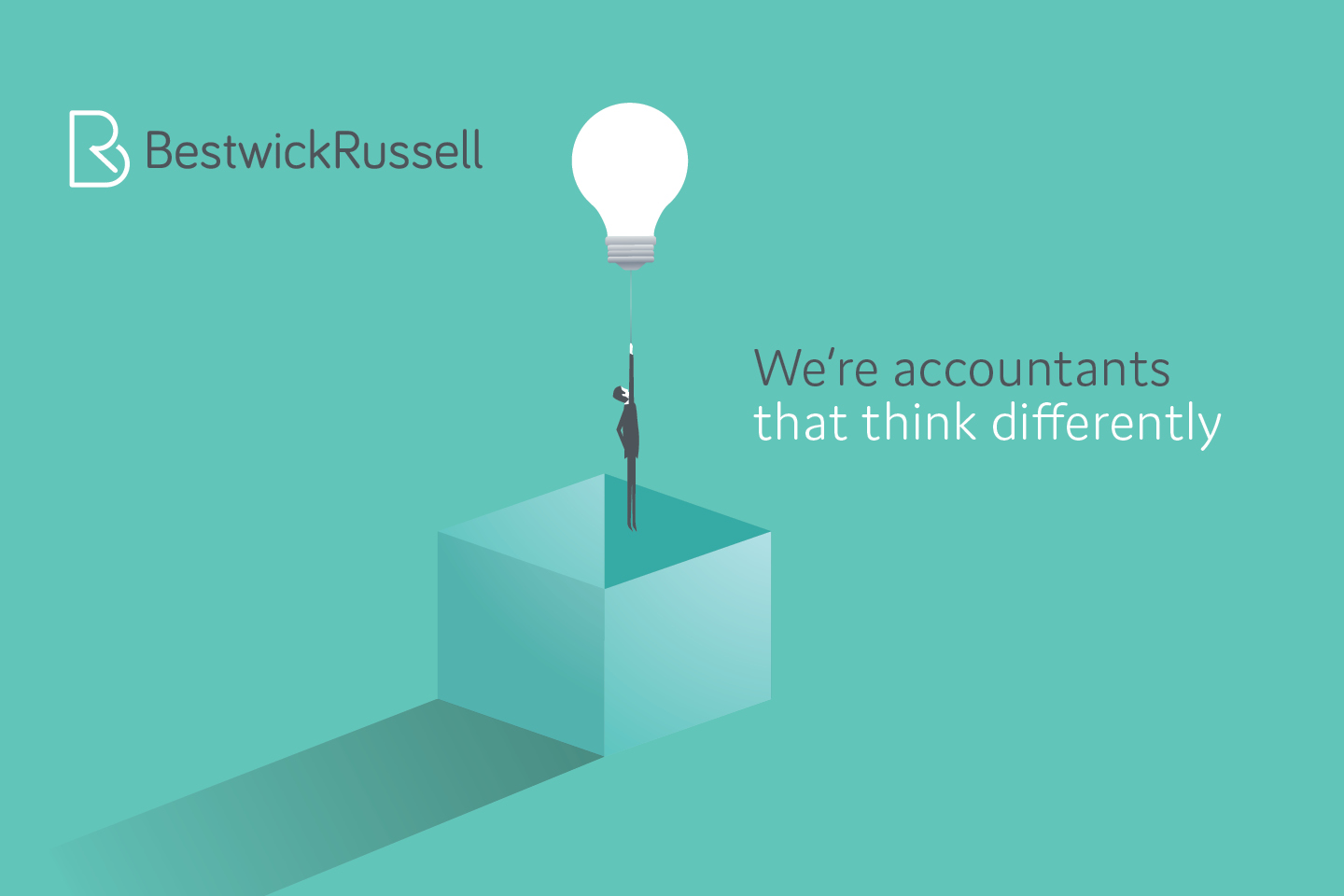 Bestwick Russell branding with lightbulb