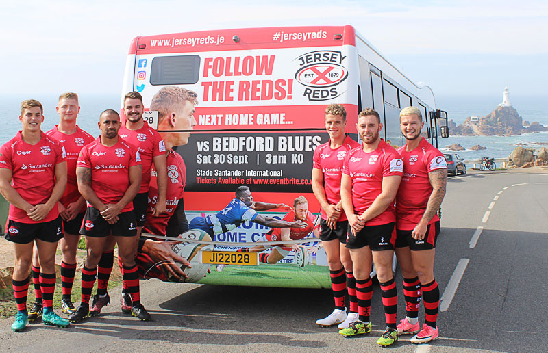 Jersey Reds advertising on LibertyBus