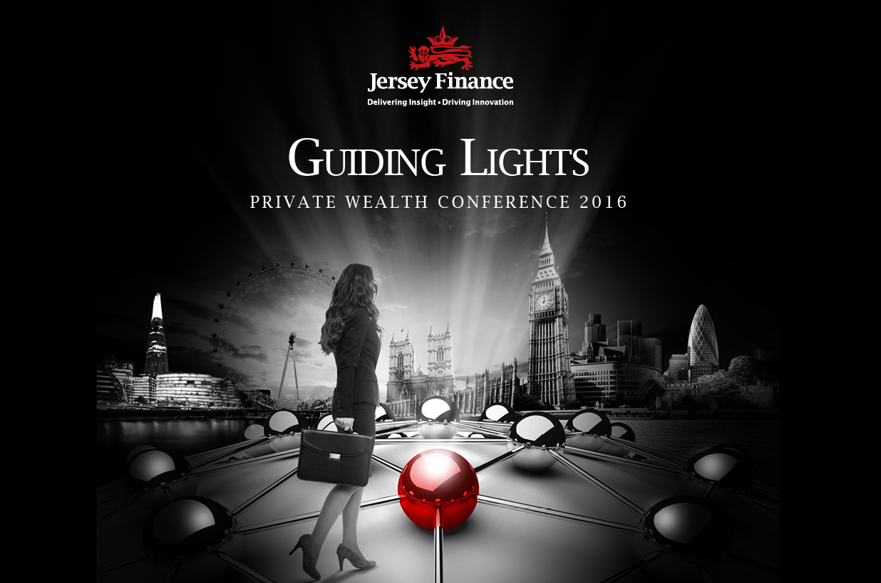 "Jersey Finance branding: ""Guiding Lights"""