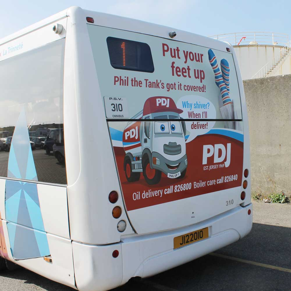 PDJ advert on LibertyBus