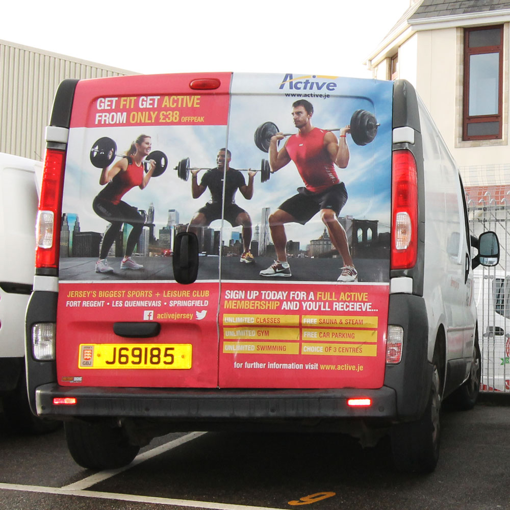 Active advert on Jersey Post fleet