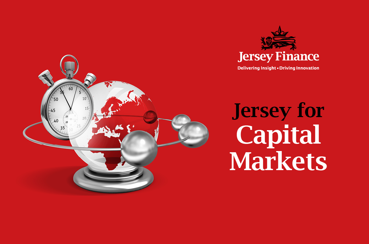 Jersey Finance branding using time