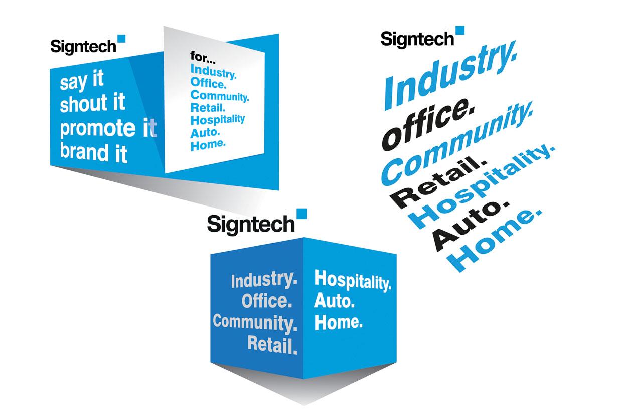 Signtech logo perspective branding