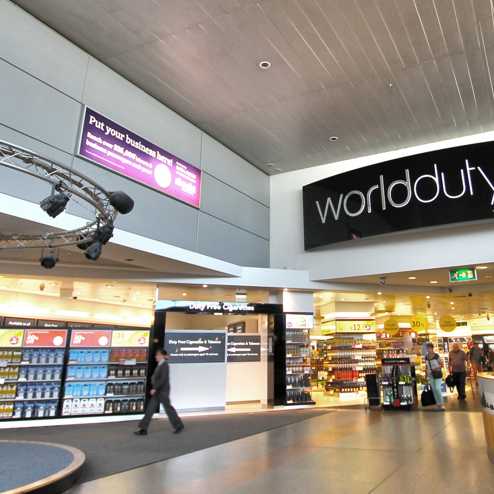 Radisson advertising at Jersey Airport