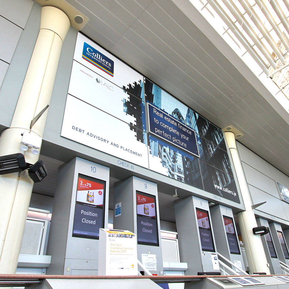 Entrance Advertising at Jersey Airport