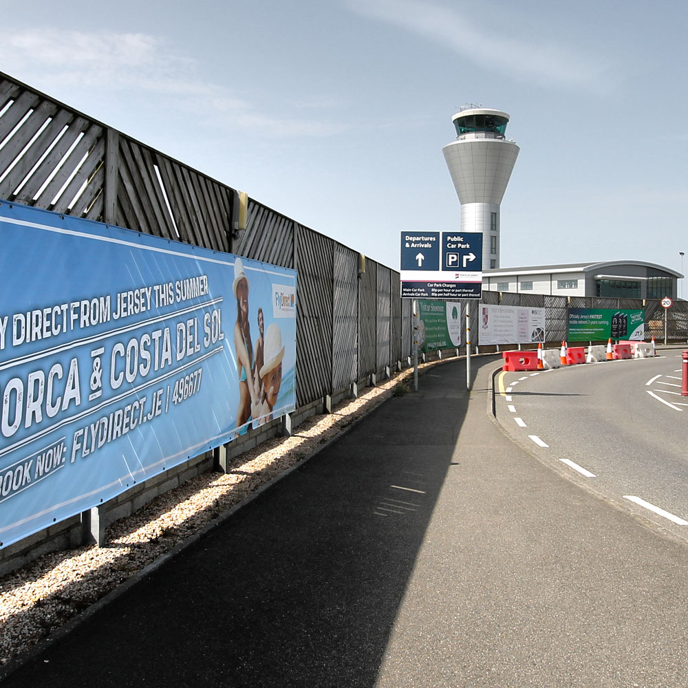 Outdoor Advertising at Jersey Airport