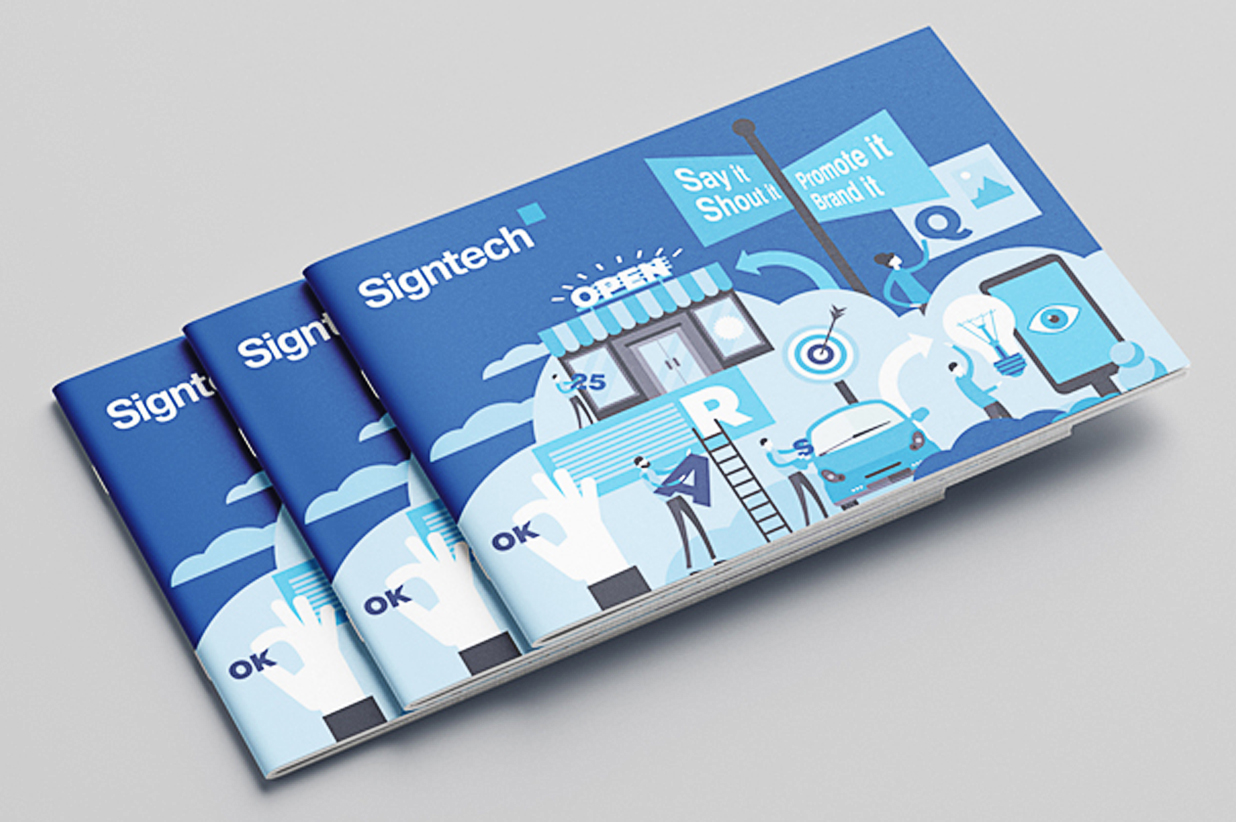 Signtech logo and branding