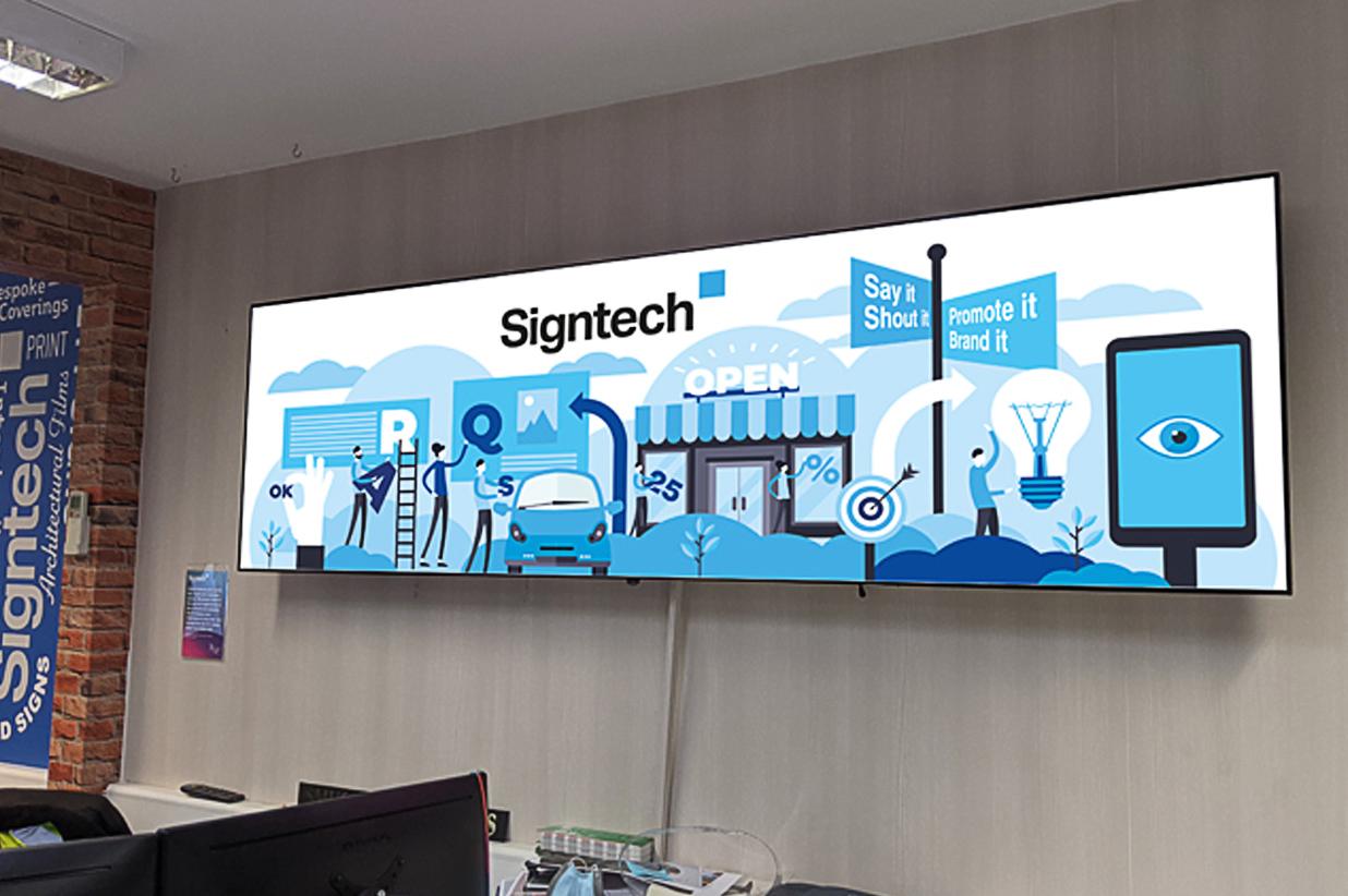 Signtech branding on vehicle wrap