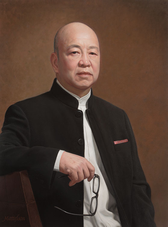 Chinese Businessman Portrait by by Marvin Mattelson