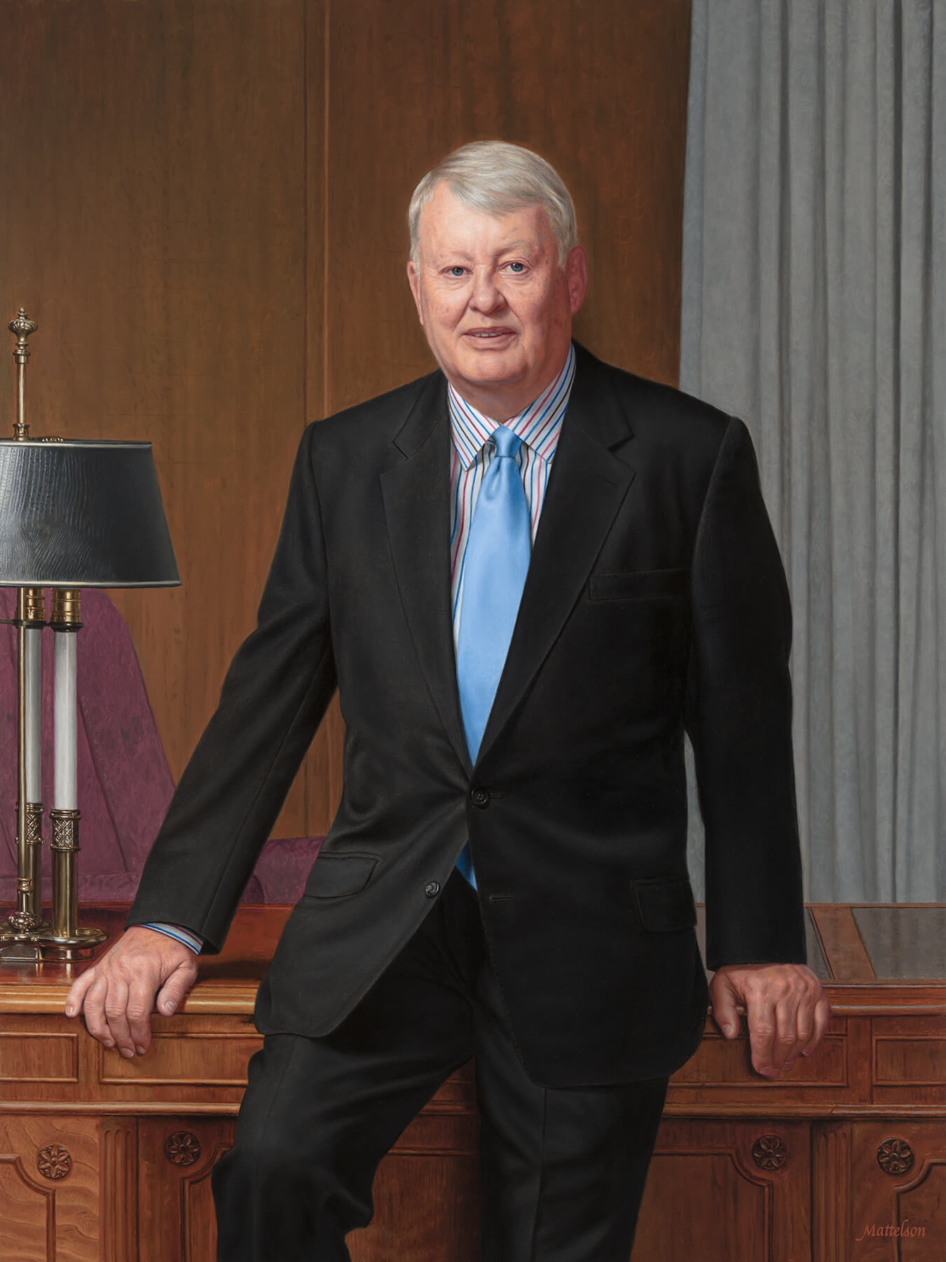 Velcro chairman of the board commissioned oil portraits.