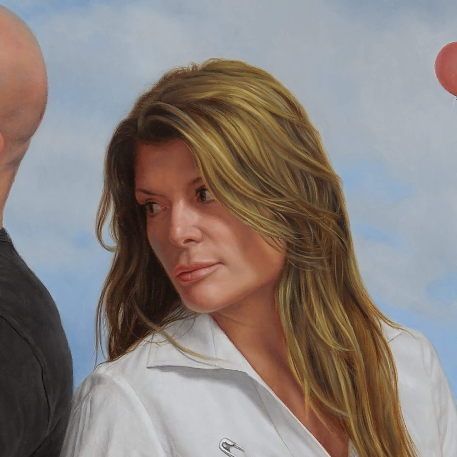 Fine Art Contemporary OilCommission Female face detail