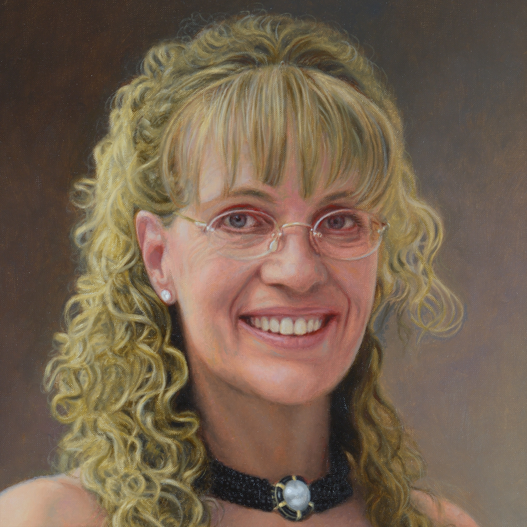 Shelly Kaye face detail for Posthumous Portrait Commisioned Art