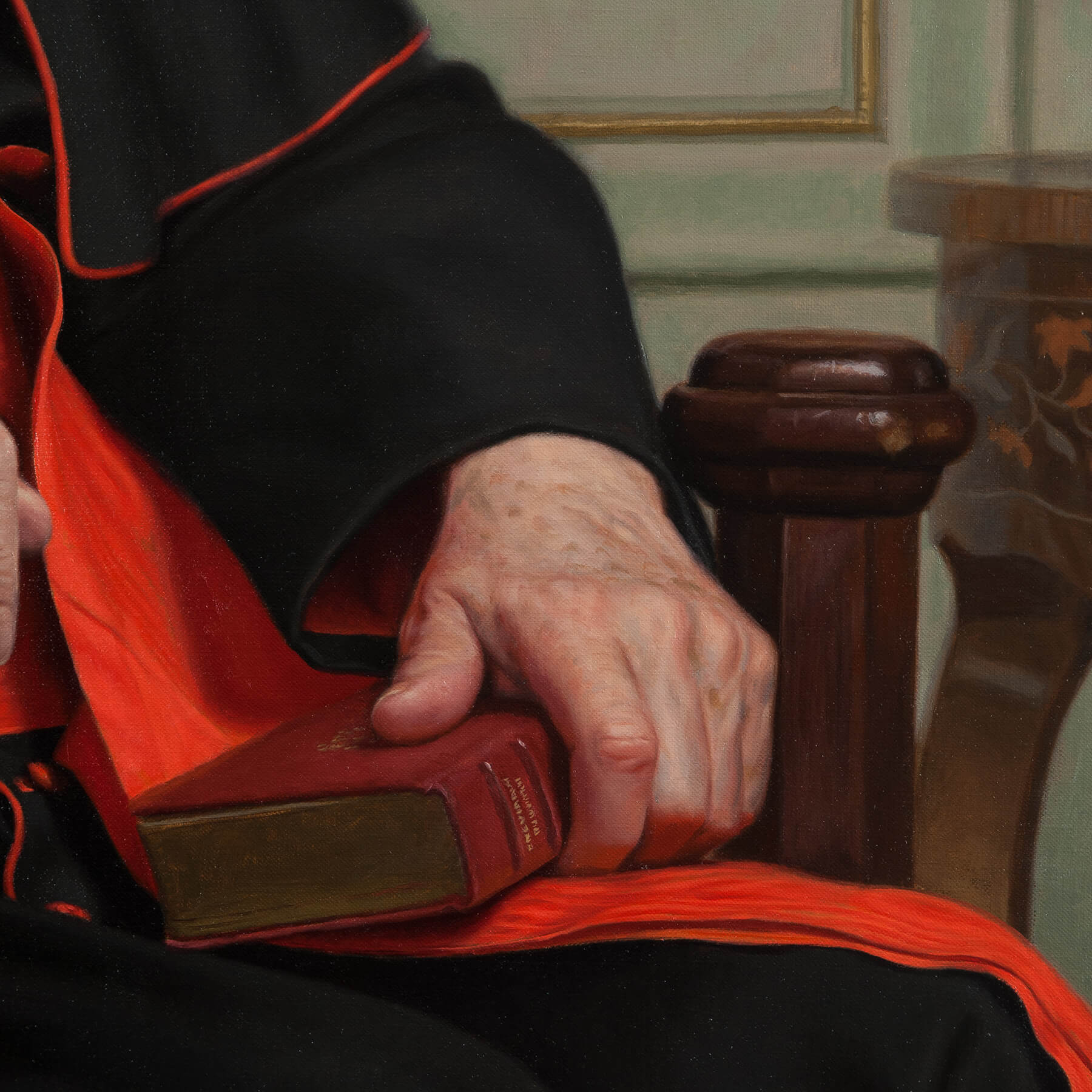 Hand detail of Clergy for Commissioned Portrait Art