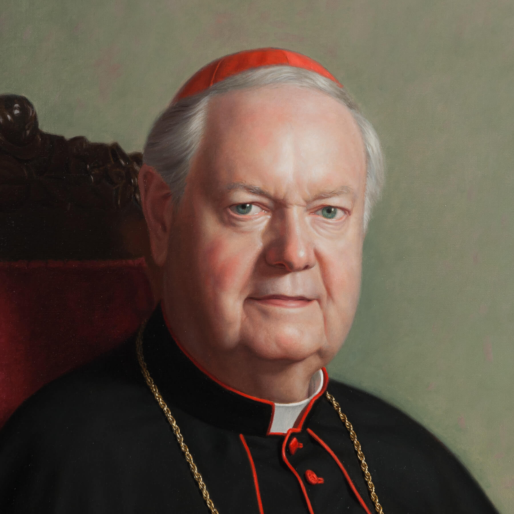 Face detail of Clergy for Commissioned Portrait Art